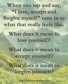 EFT tapping for love & forgiveness.