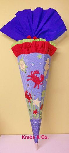 *BASTELSET Schultüte Zuckertüte KREBS & CO.* Ich biete hier eine topp moderne Schultüten-Bastelpackung für Mädchen an: *- die klasse Krebse &