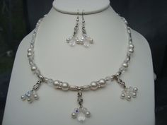 Sterling Silver Crystal Necklace  & Earrings  A by showoffjewels, £199.00