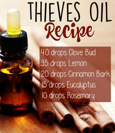 Save BIG by blending your own Thieves Oil! Here's the recipe + 5 common uses for this popular germ-fighting essential oils blend. Try this DIY essential oils recipes blend! Essential Oil Uses, Natural Essential Oils, Young Living Essential Oils, Thieves Essential Oil, Natural Oils, Essential Oils For Pain, Essential Oil Blends For Colds, Natural Health, Essential Oil Recipies
