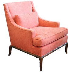Widdicomb T. H. Robsjohn-Gibbings Style Faux Bamboo Lounge Chair