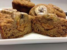 Cinnamon Peanut Butter Banana Muffins
