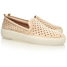 Sam Edelman Bea Ivory Suede Leather Sneakers (735 VEF) ❤ liked on Polyvore featuring shoes, sneakers, neutrals, suede sneakers, slip on sneakers, winter white shoes, suede shoes and sam edelman sneakers