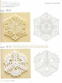 arts and craft books: motif & edging designs magazine, free crochet books - crafts ideas - crafts for kidsISSUU - Ondori motif and edging designs by Crowe BerryMiiMii - crafts for mom and daughter .: Magic szydełka- inspiration, stitches and pattern Crochet Diagram, Crochet Chart, Free Crochet, Crochet Lace, Crochet Blocks, Crochet Squares, Granny Squares, Crochet Stitches Patterns, Thread Crochet