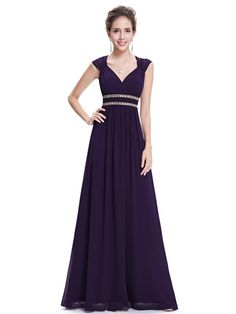 Charming Straps Open Back Ruched Bodice A Line Purple Chiffon Floor Length Long Prom Dress