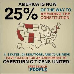 Overturn Citizens United ~ overturn that baby now! Worse ruling ever!