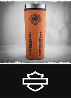 Take the spirit of the road with you on your morning commute. | Harley-Davidson Bar & Shield Logo Travel Mug #MothersDay