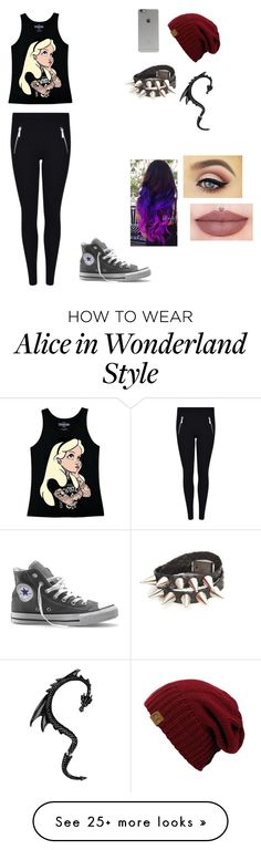 """Punk"" by madisonxqueen on Polyvore featuring moda, Disney, Converse e Incase"