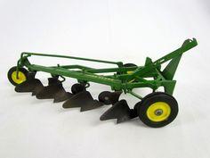 Vtg Ertl John Deere 4 BOTTOM PLOW 1/16 Diecast Metal Tractor Farm Implement Toy #ERTL #JohnDeere