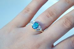 Opal Ring Sterling Silver Cubic Zirconia Pink by NaturallyByGrace
