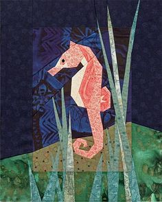 Seahorse Paper-Pieced Quilt Pattern at Paper Panache - some day I'll have time for this too!