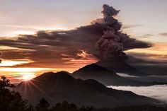 An erupting volcano in Bali and a cold snap in the UK - Sunday's best photos