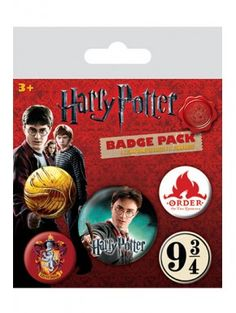 Harry Potter Pack 5 chapas Gryffindor