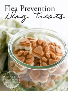 Homemade Flea Prevention Dog Treats {2 Ingredients & Grain Free}