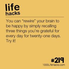 The post #219 – How To Rewire Your Brain appeared first on 1000 Life Hacks.