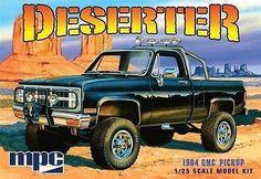 MPC Model Cars 1/25 1984 GMC Deserter Pickup Truck (Black) Kit