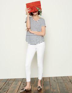 7/8-Jeans mit Reißverschluss