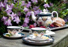 Enjoy a spot of #tea with #Biltmore's modern Vanderbilt tea service, inspired by the original set. www.biltmore.com