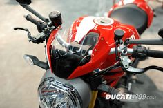 Ducati Monster 1200 S Stripe at the International Motorcycle Show in Portland, Oregon.