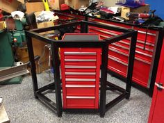 Add sides and a top and it is a great work bench