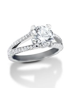 Platinum ring with split diamond shank Or Rose, Rose Gold, Split Shank, Gia Certified Diamonds, Platinum Ring, Fashion Rings, Diamond Engagement Rings, Wedding Bands, Larger