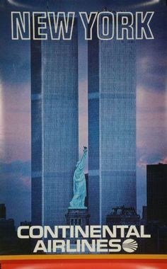 Continental Airlines Ny Twin Towers Puzzle Fun-Size 120 pcs