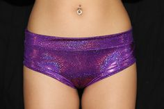 Purple Sparkle Naughty Fit Shorts - Rarr Designs