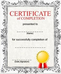 Free Printable Certificate Of Completion Template intended for Certificate Of Completion Template Free Printable Free Printable Certificate Templates, Graduation Certificate Template, Certificate Of Completion Template, Graduation Templates, Certificate Of Achievement Template, Certificate Format, Free Certificates, Free Printable Resume, Free Printables