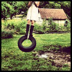 Happy little tire swing :-)