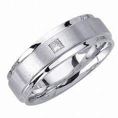 http://dyal.net/gold-wedding-rings-for-men White Gold Wedding Ring for Men with Diamond