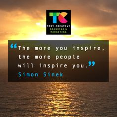 """""""The more you inspire, the more people will inspire you."""" ~Simon Sinek  The team at Toby Creative - Branding & Marketing like to inspire our own clients, as well as support them to subsequently inspire their consumers through stand-out engaging marketing campaigns that resonate and reinforce the brand message for the business.  How well does your marketing content inspire your audience?  Contact Toby Creative - Branding & Marketing in Perth today on (08) 9386 3444 or visit our website."""
