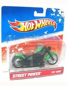 Hot Wheels Street Power Street Bikes - Fat Ride by mattel. $9.99. Copyright 2009. Model R1082 Assortment 47118. Collectible Street Bikes with Die-Cast Detailing. Fat Ride collectible street bike from Hot Wheels. One of the Street Power Collection. Colors and decorations may vary.