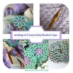 love, k: Crochet - 2-ways Blanket/Cape