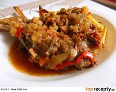 Králík po kanadsku Japchae, Food And Drink, Beef, Chicken, Ethnic Recipes, Kochen, Ox, Cubs, Steak
