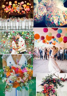 FÄRGGLATT, KONFETTI OCH DANS Let's Get Married, Where The Heart Is, Wedding Colors, Wedding Inspiration, Table Decorations, Party, Colorful, Shower, Fashion