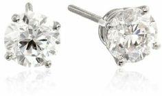 IGI Certified Platinum 4-Prong Diamond Stud Earrings (2 cttw, G-H Color, VS2 Clarity)