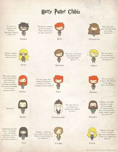Harry Potter Chibis ♡