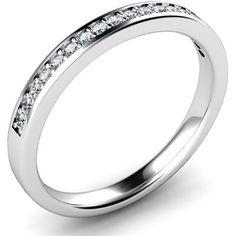 Diamond Set wedding ring.  Grain set with round brilliant cut diamonds.  Platinum.  By Diamonds