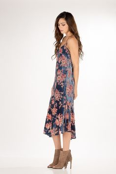 Flaunt you Florals!  This dress is great for a party or pair it with a jean jacket and booties.