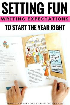 Setting Fun Writing Expectations to Start Your Year Right- Young Teacher Love by Kristine Nannini Writing Goals, Pre Writing, Cool Writing, Writing Ideas, 4th Grade Classroom, Middle School Classroom, Writer Workshop, Reading Workshop, Beginning Of School