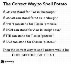 The hilarity of the English language...