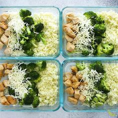 fitness meals Low carb cheesy chicken and rice is a delicious low carb lunch option! Pan-fried chicken breast and broccoli are smothered with cheese and served over cauliflower rice. Filling but light with only 5 g carbs and 43 g of protein. Clean Recipes, Easy Healthy Recipes, Lunch Recipes, Healthy Snacks, Healthy Tuna, Healthy Carbs, Heathy Lunch Ideas, Lunch Ideas Work, Meal Prep Recipes