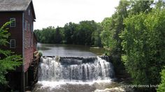 wisconsin dells | Augusta Wisconsin Dells Mill Dam and Mill Museum with the Dells Pond ...