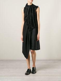 Comme Des Garçons Noir Kei Ninomiya Pearl Pleated Asymmetric Dress - Bernardelli - Farfetch.com