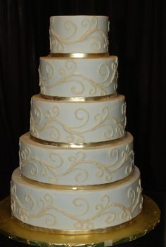 teal wedding cakes pictures | Yum Scrum Cakes: A Touch of Gold