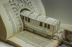 Altered book art sculptures by Thomas Wightman Old Book Art, Old Books, Paper Book, Paper Art, Book Crafts, Paper Crafts, Altered Book Art, Book Folding, Book Projects