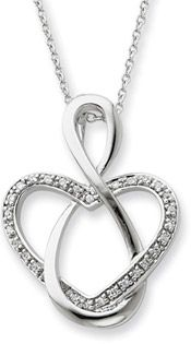 Lifetime Friendship Heart Necklace in Sterling Silver, $65 + Free Shipping! ApplesofGold.com -