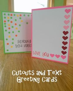 Greeting Card Series v2: Cutouts and Text Design