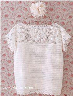 Белая блузка крючком. Летние ажурные блузки для женщин