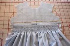 Creations By Michie` Blog: Sizing The Pleated Piece For Smocking